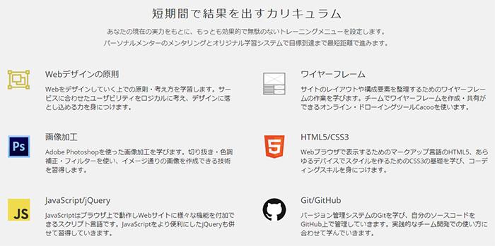 テックアカデミーのWebデザインコース