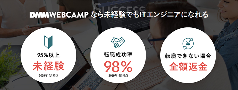 DMM WEBCAMP 転職コース(旧WebCampPro)について